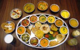 essen in indien, thali, reise nach indien