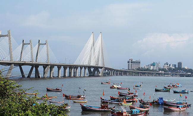 India in december, mumbai, sealink