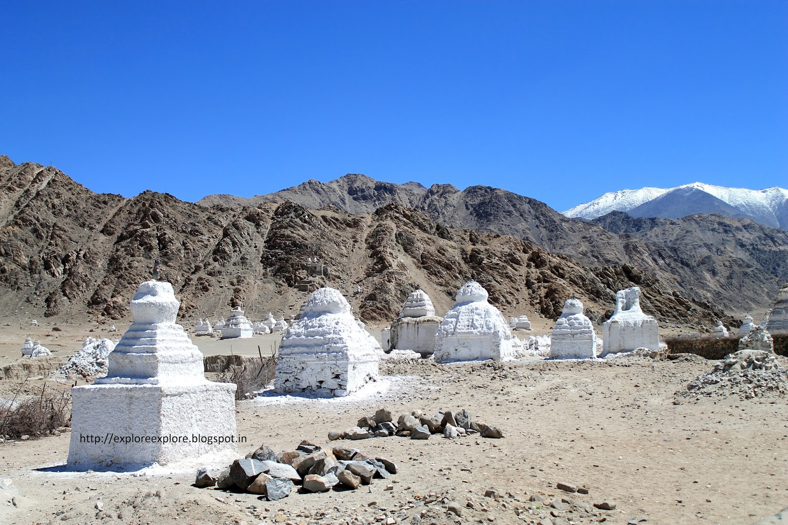 Chortens in Leh Ladakh, that you will see all around (Photo Credits)