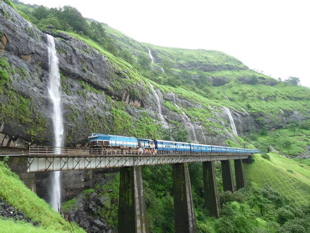 The scenic Konkan Railway train route is at its best in the rains. It runs from Mumbai to Kerala (passing Goa en route)
