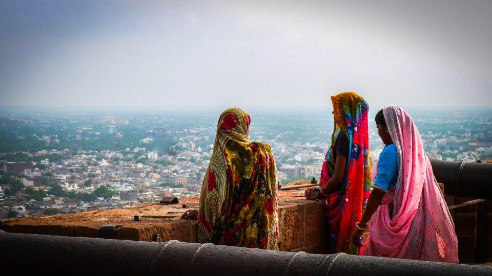 Enjoying the views from Meherangarh Fort Jodhpur (Photo Credits)