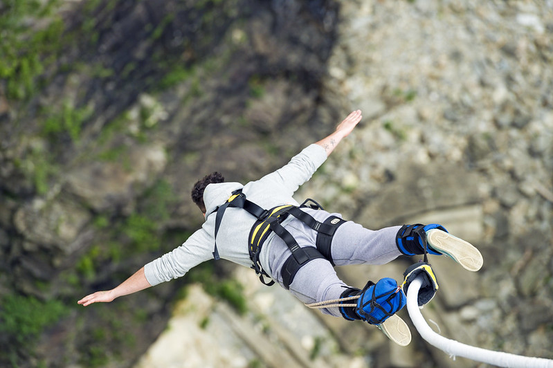 Jumping heights, bungee jumping in India