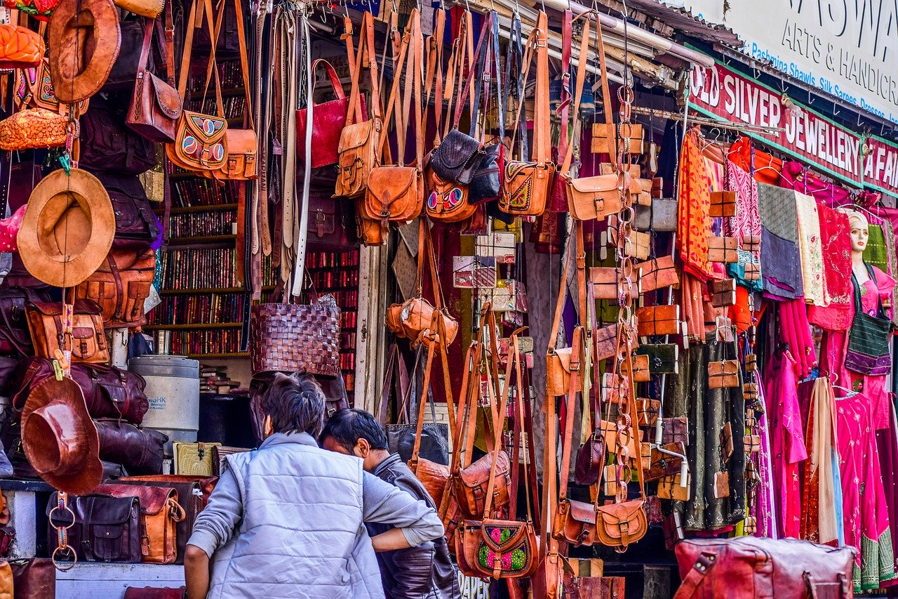 Shopping in India on a budget, Backpacking routes in India