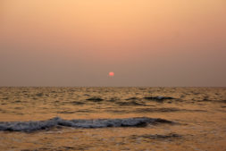 View of the sunset in India
