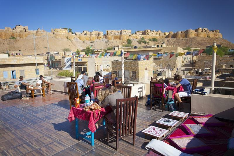Mystic jaisalmer rooftop, image from hostelbookers