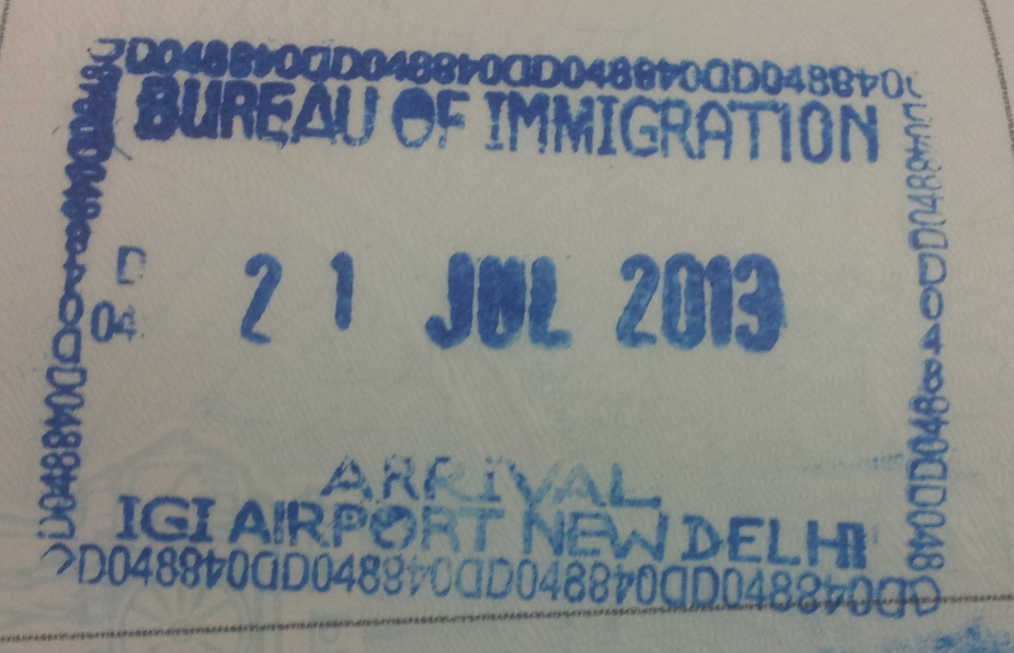 visa to india immigration stamp