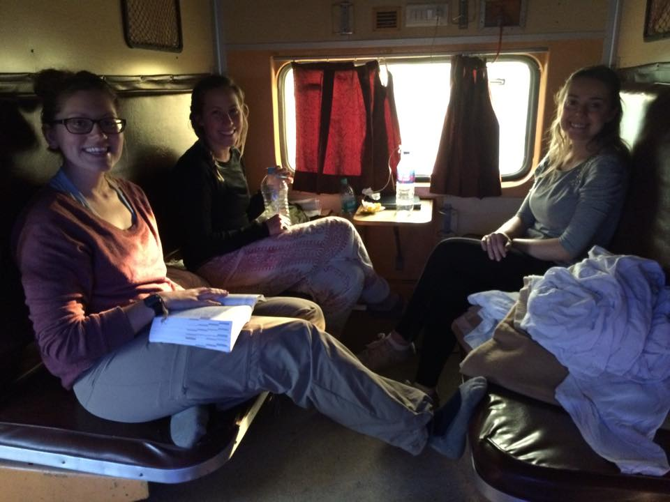 Our A/C three tier ride from Varanasi to Agra - the train was delayed by more than 5 hours