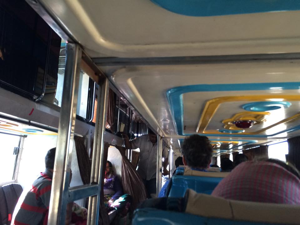 The colourful and crowded Udaipur to Jodhpur bus