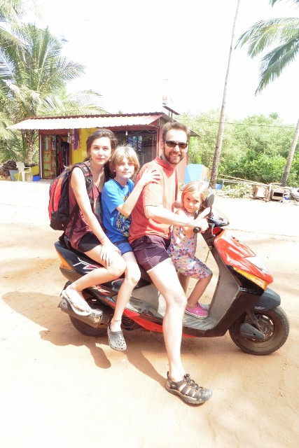 In India a two wheeler is a family vehicle (we only used it to Pose!)