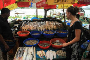 Fresh Fish dinner in Kerala
