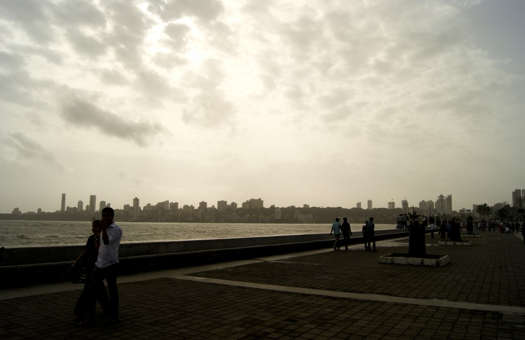 Marine drive, all set to welcome the rains.