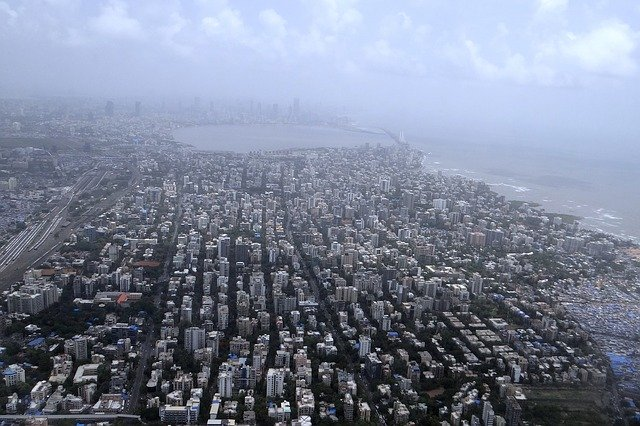 Bird's eye view of Mumbai