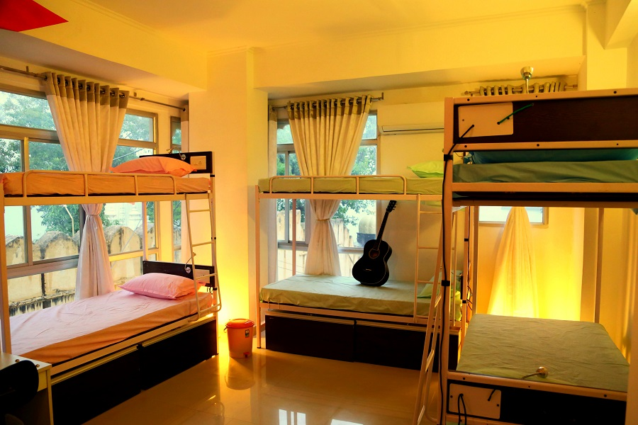 Dorms in Zostel Udaipur, Review on Zostel Udaipur