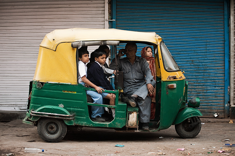 Unlimited Seating! An Autorickshaw in India http://www.dailytravelphotos.com/