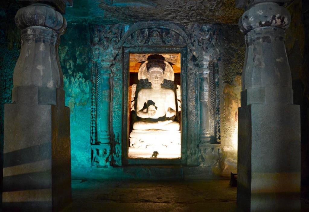 Ajanta höhlen, buddha indien
