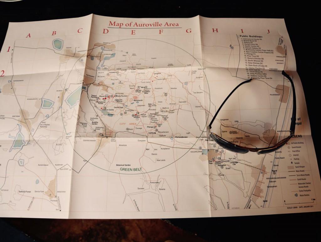 Auroville_Map, indien reiseziel