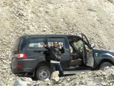 Fahrer und Wagen Rajasthan
