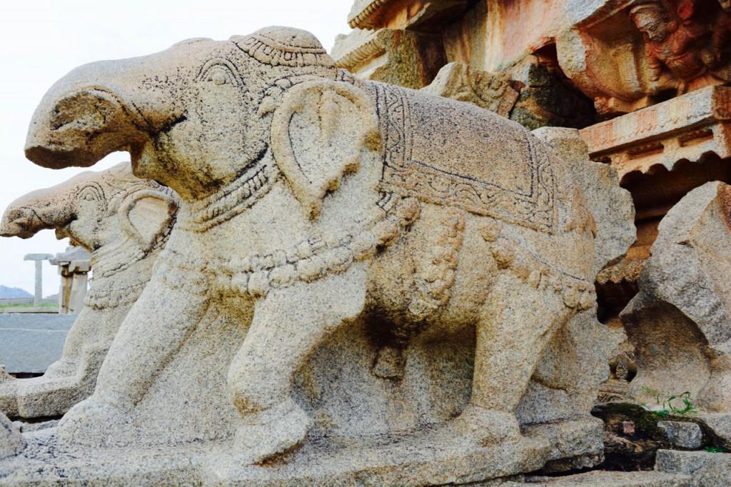 Hampi-Vitthala-Tempel-Elefanten