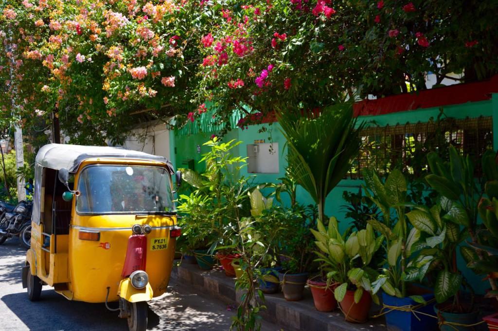 Pondicherry_VilleBlanche_Rikscha, indien reiseziel