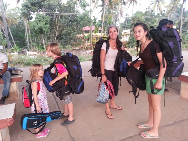 Family trip with children in India