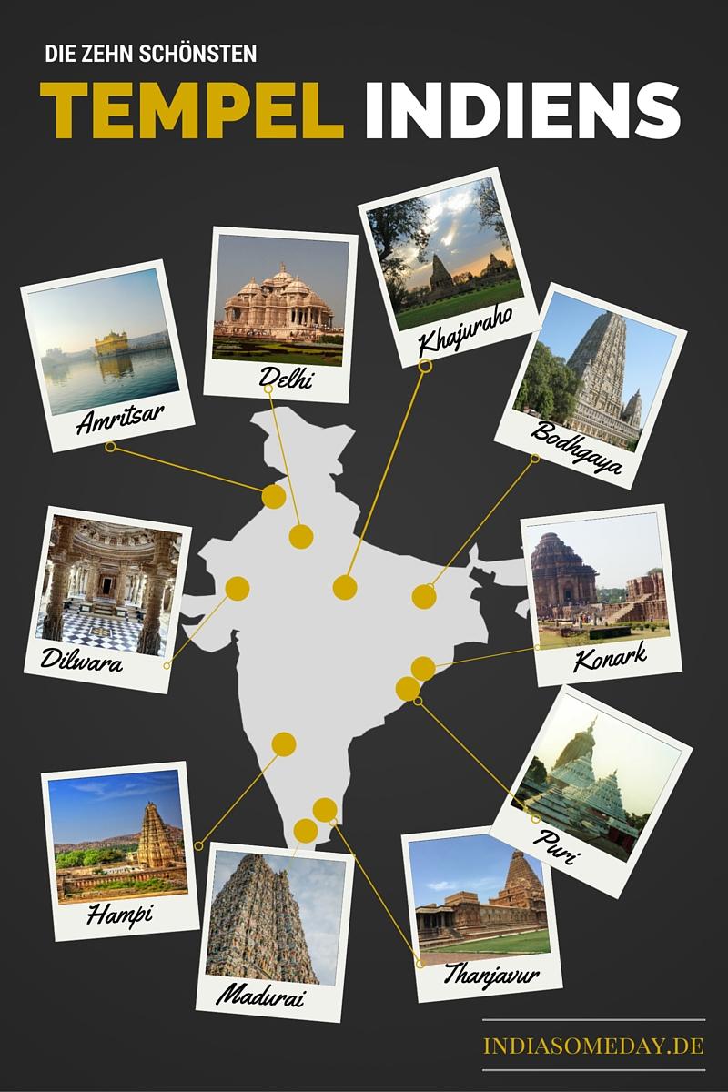 Indienurlaub: Eine Übersicht der zehn schönsten Tempel Indiens