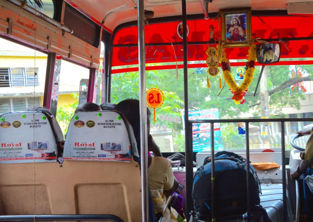 kerala kochi, busfahrt