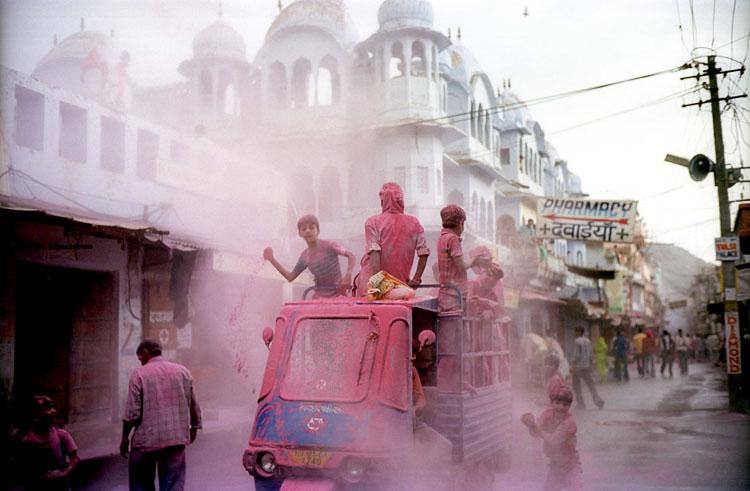 Indienurlaub: Holi in Indien feiern Holi Fest Indien