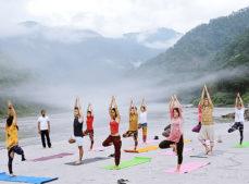 Ashram Indien. Yoga Indien