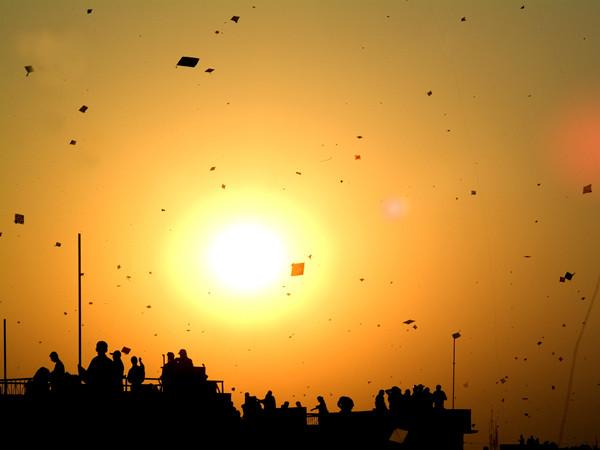 Kite flying festival in India