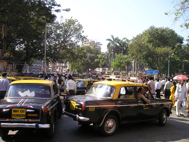 Mumbai taxis and local trains