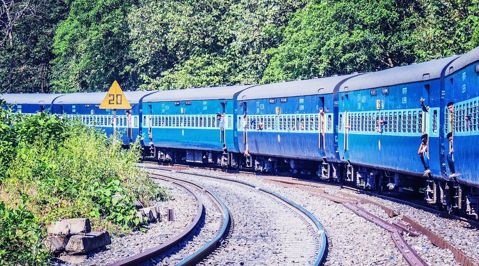 Le train en Inde