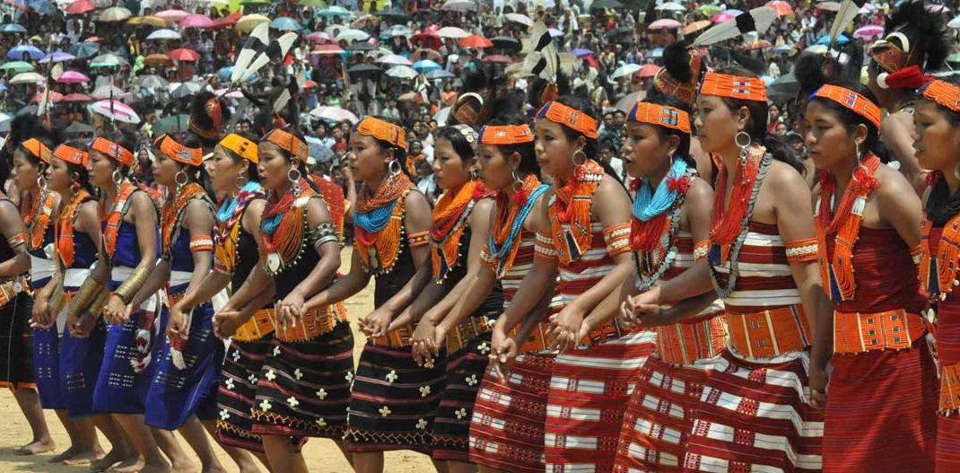 Aoling festival in Nagaland India