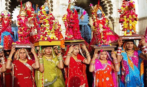 Gangaur festival in Rajasthan, religious places in India