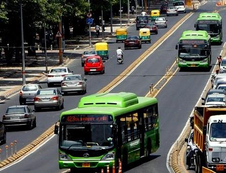Modes of transport in Delhi, India