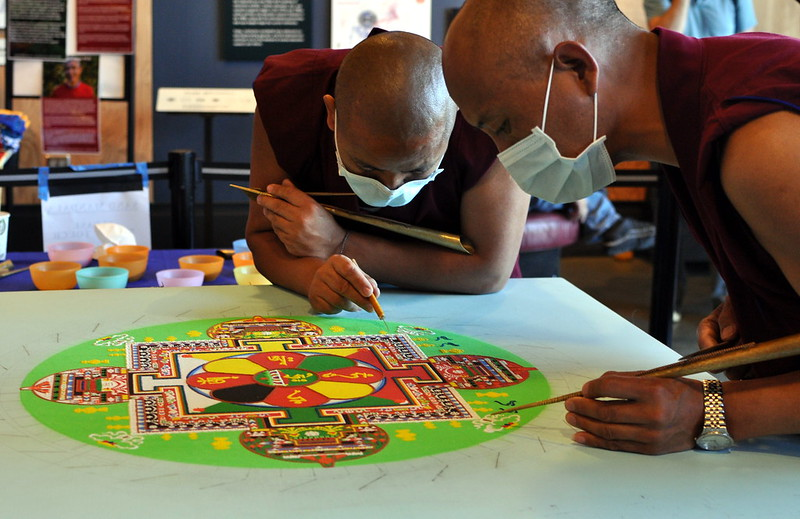 sand mandala by Monks, Things to do in Dharamsala