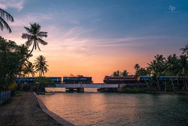 Kerala, Zug in indien