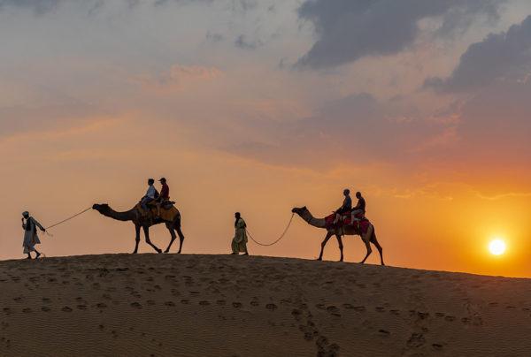 Sand dunes in Jasialmer