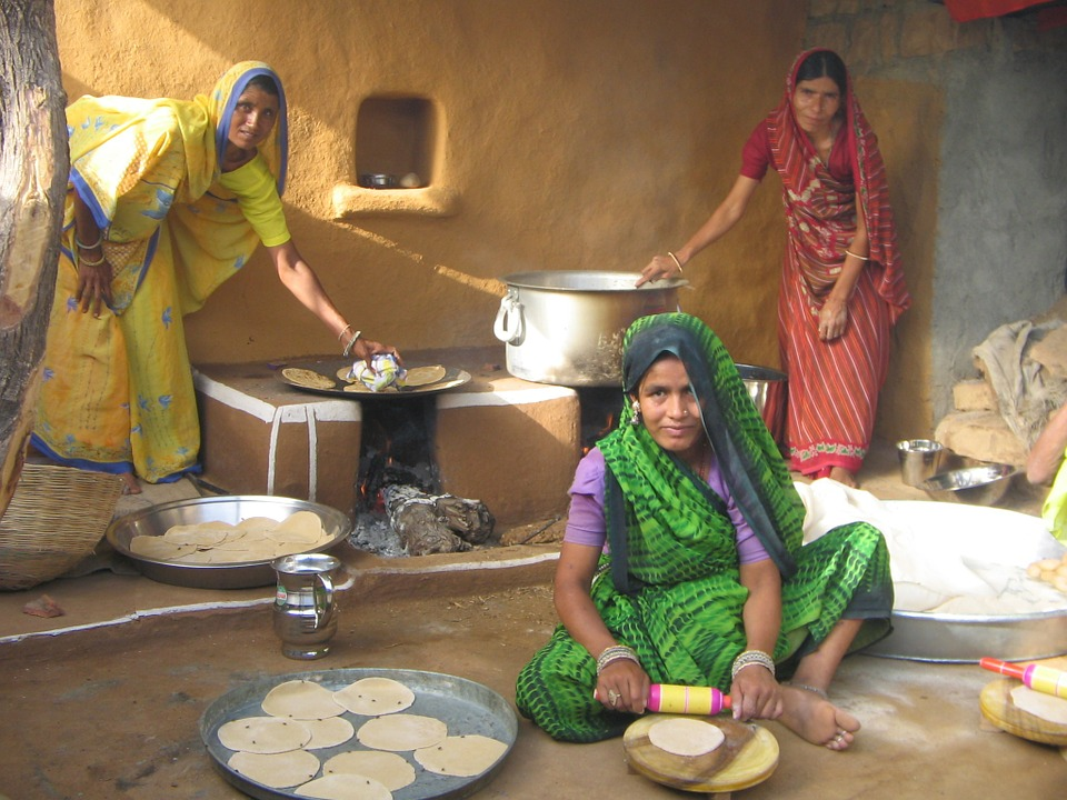 Une cuisine indienne typique