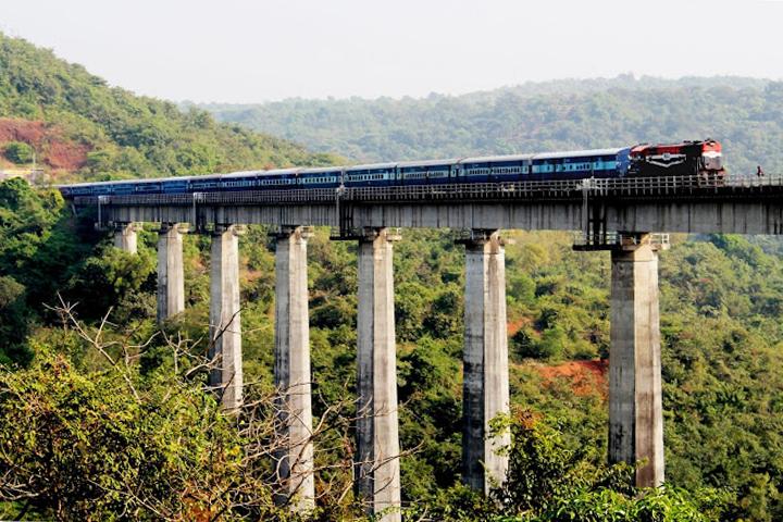 Konkan, train reliant Goa au Kerala