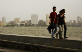 Mumbai marine drive, junge paare