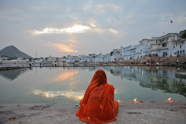 Travel routes for Rajasthan, Pushkar lake