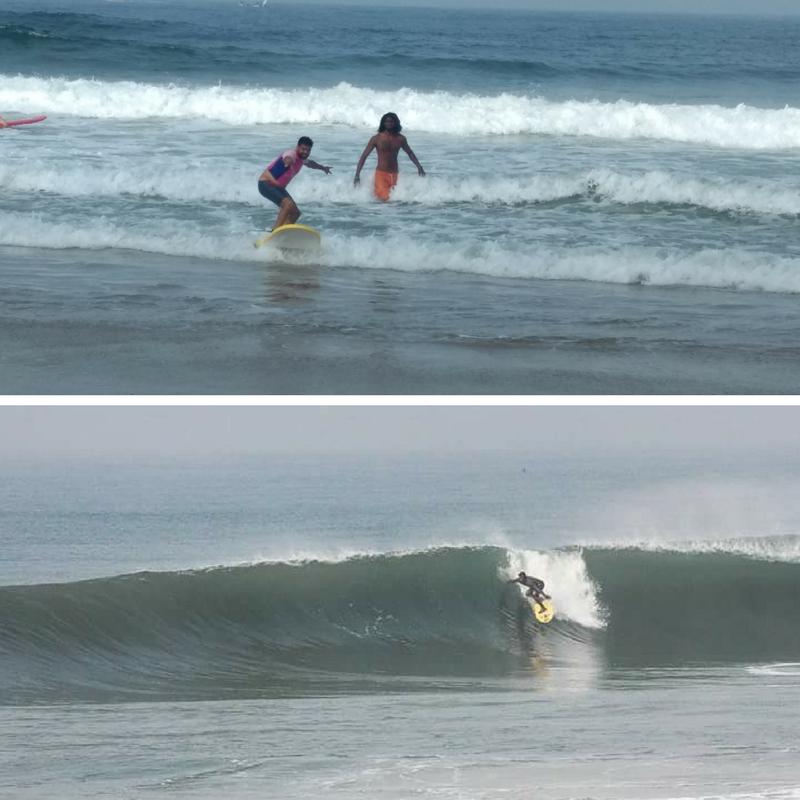 Surfunterricht in Indien