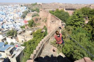 Zip-lining, adventure sports in India