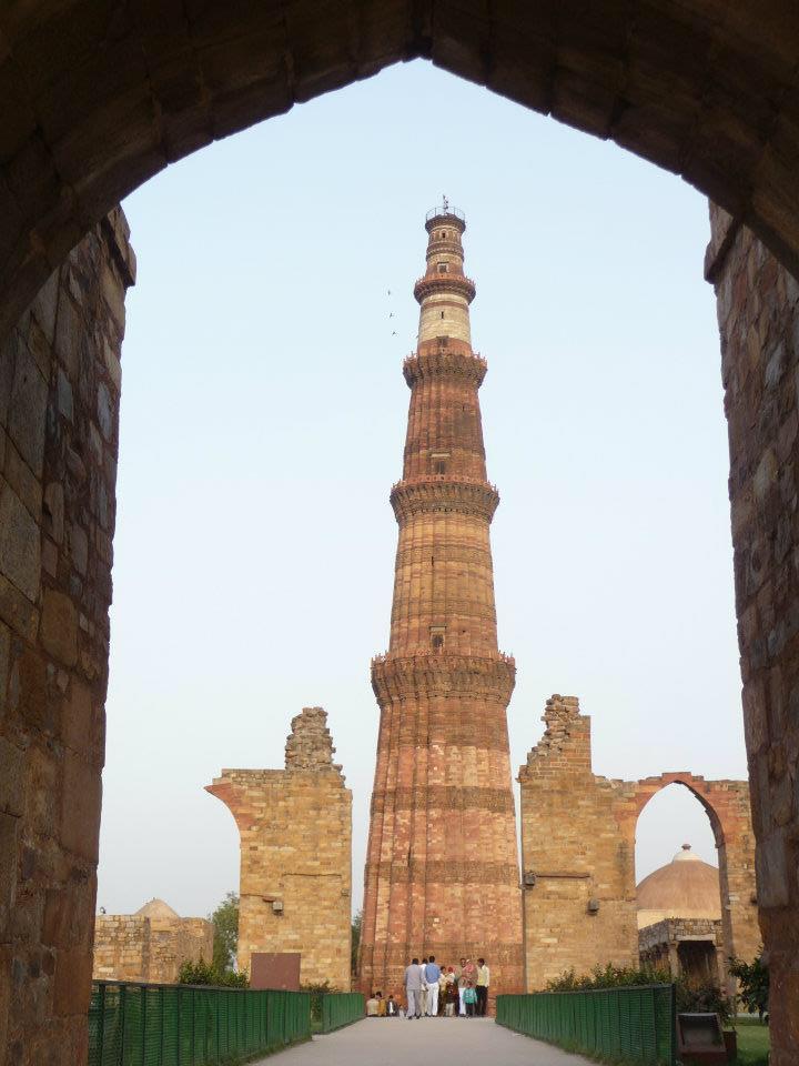 inde du nord - Qutub miner à Delhi