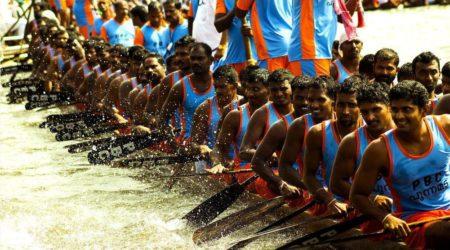 Course de bateau au Kerala
