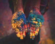 Holi - the festival of colours celebrated in India