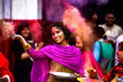 holi festival, farbenfrohes Indien