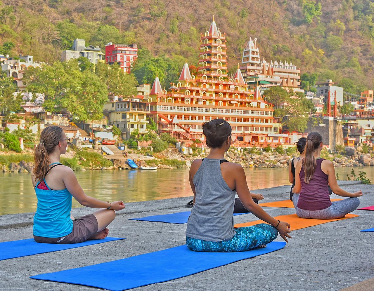 Yoga in north India, rishikesh