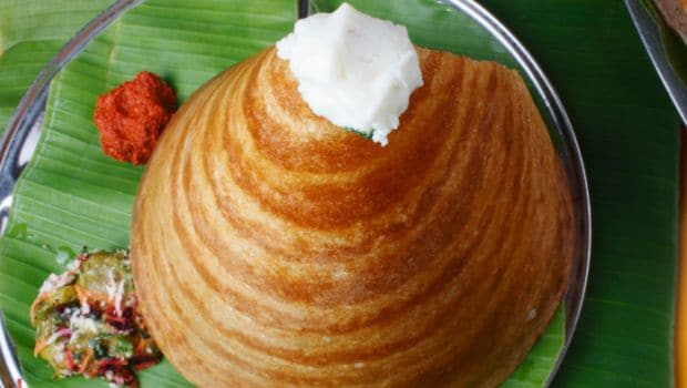 Varieties of crisp and spicy crepes, Food in India