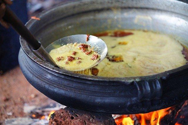 piping hot food